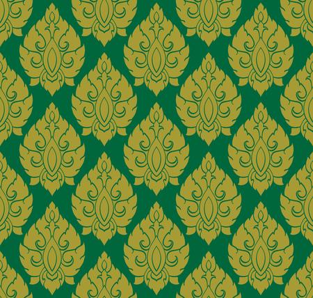 Thai traditional art. Thai Art Background, Thai art pattern, Vector.