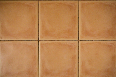 Orange Square Bricks background Stock Photo