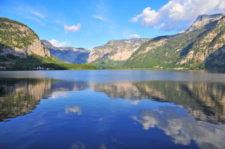 lps: Nature landscape of Hallstatt lake in Austria, Europe