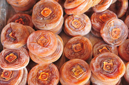 Stacks of persimmon cake, the traditional Taiwanese preserve photo