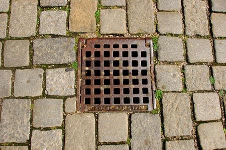 nickle: Texture of old street pavement at Vienna, Austria Stock Photo