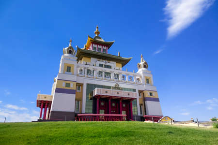 Golden abode of Buddha Shakyamuni, Buddhist temple in Elista, Russia.