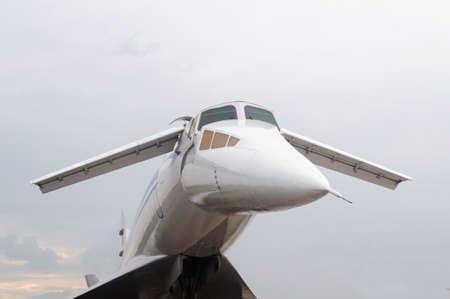 Cockpit supersonic passenger aircraft, Zhukovsky Russia Imagens