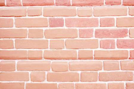 Red brick wall with painted bricks, background. Stock Photo - 124437468