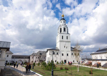Bell tower of the assumption monastery of Sviyazhsk island, Tatarstan Republic, Russia.