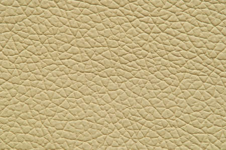 Beige artificial leather with large texture, macro. Stock Photo
