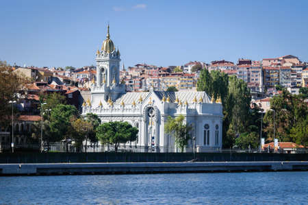 Sea view of St. Stephens Church, built in 1896, Istanbul. Banco de Imagens