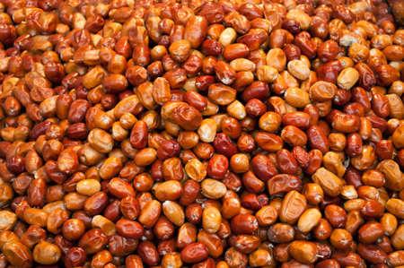 Salted olives at street food market, Istanbul, background. Banco de Imagens
