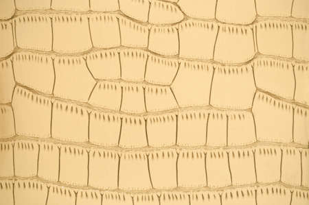 Light brown faux leather texture with large pattern, background. Banco de Imagens