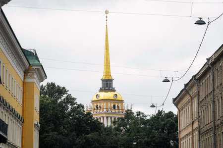 The building Of the General Admiralty Russian classicism style in St. Petersburg built in 1706.
