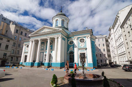 Church of the Armenian Apostolic Church in St. Petersburg style of Neoclassical architecture built in 1771. Banco de Imagens