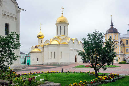 Holy Trinity Cathedral built in 1423, Sergiev Posad, Russia.