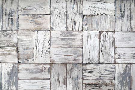 Wall tile whitewashed wood, background. Stock Photo