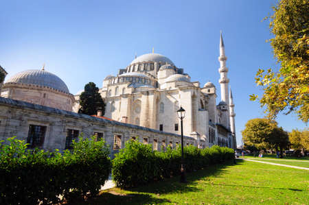 Suleymaniye mosque is a masterpiece of architecture in Istanbul. Stock Photo
