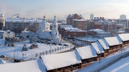 View of the Church of the Holy Great Martyr Paraskeva Pyatnitsa, Kazan, Tatarstan Republic, Russia.