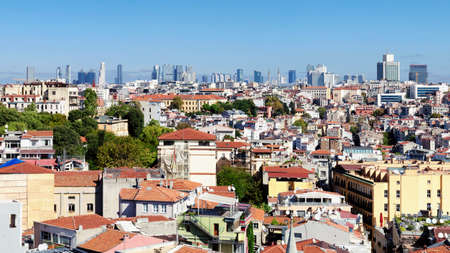 View of the development of the central part of Istanbul. Imagens