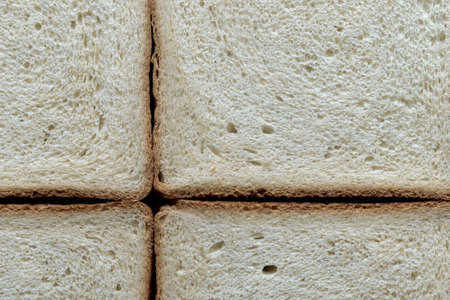 Top view surface texture of bread slices, background. Imagens