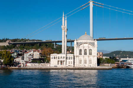 Ortakoy Mosque is an architectural monument of the European part of Istanbul. Imagens