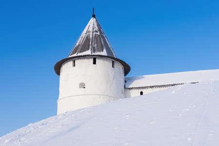 The Kremlin main landmark of Kazan in winter, Tatarstan Republic.