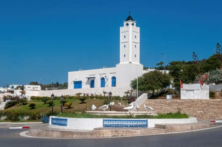 The Mosque of Sidi bou Said is an example of Tunisian architecture.