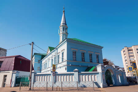 Zangar Mosque, Blue Mosque in Kazan, Tatarstan Republic.