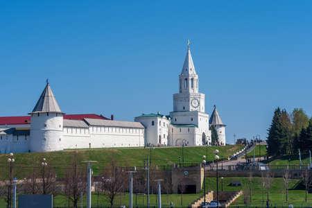The Kremlin is an architectural landmark of Kazan, Tatarstan Republic. Imagens