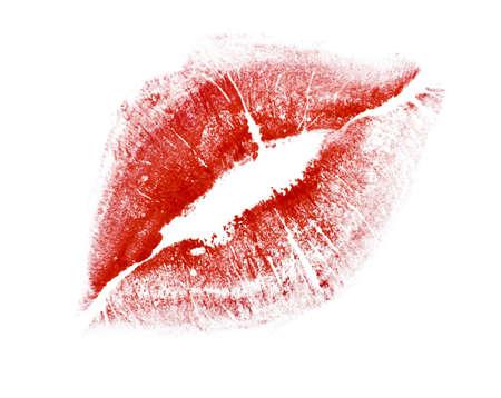 red lipstick: kiss