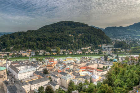 view of the historic city of Salzburg, Salzburger Land, Austria photo