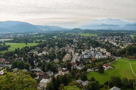 amadeus mozart: view of the historic city of Salzburg, Salzburger Land, Austria Stock Photo