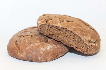 Loaf of traditional rye hearth bread
