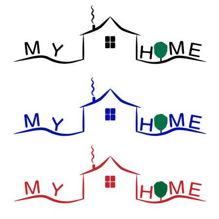 house logo: home logo vector. house icon