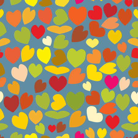 seamless vintage love heart background in pretty colors. Great for baby announcement, Valentines Day, Mothers Day, Easter, wedding