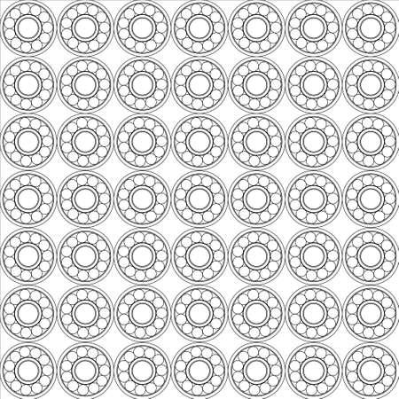 Nahtlose Muster von Kugellagern Vektor