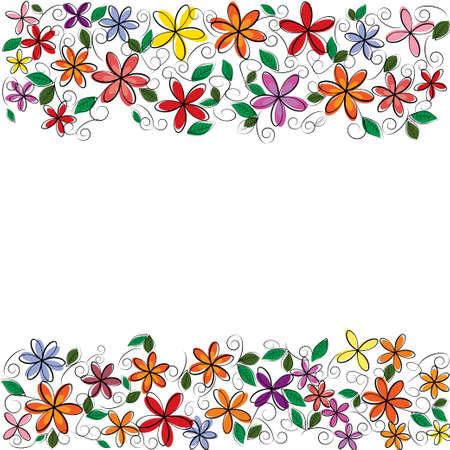 vector flowers frame Illustration