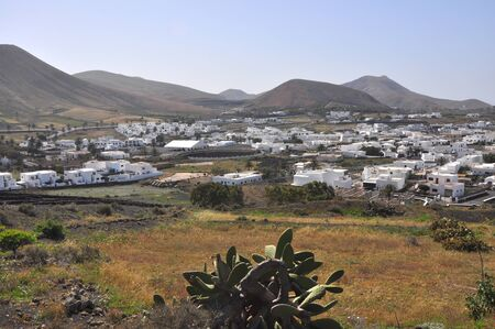 ランサローテ島のスペインの村