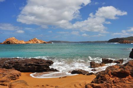 Beach on spanish balearic island Menorca