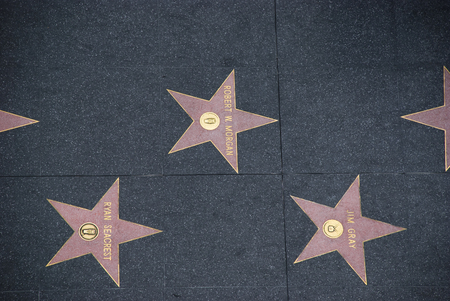 Stars on Hollywood's Walk of Fame, Los Angeles - USA Editorial