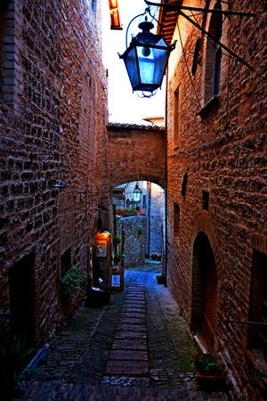 Spello street Italy Stock Photo