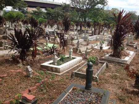 gravesite: muslim gravesite Stock Photo