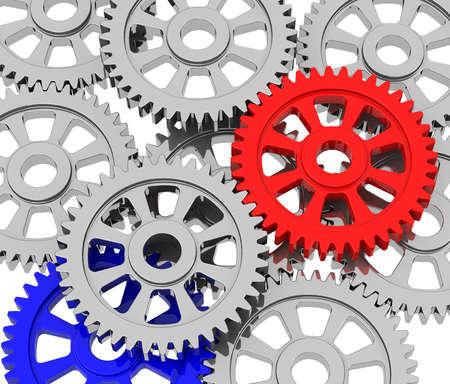 gearwheel: the gear Stock Photo