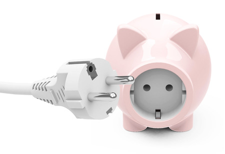 piggy bank with power socket