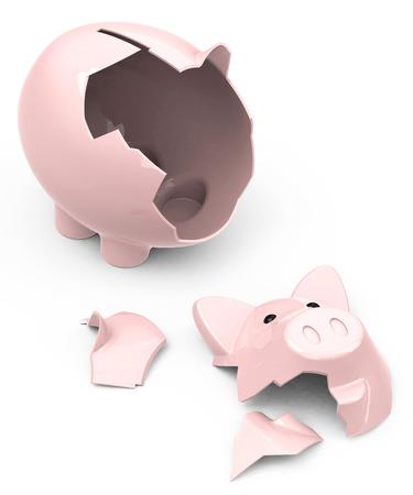 the broken piggy bank