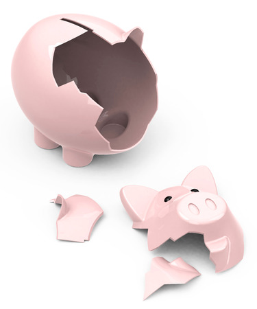 the broken piggy bank
