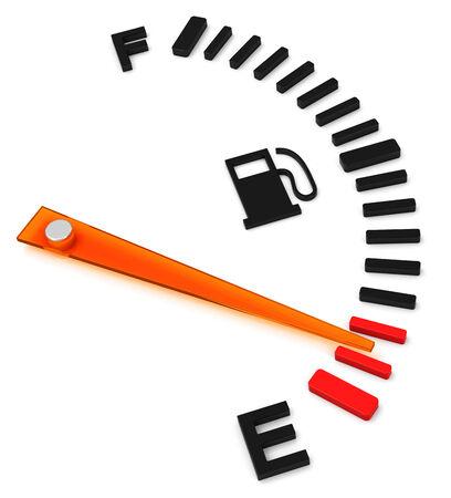 the fuel gauge