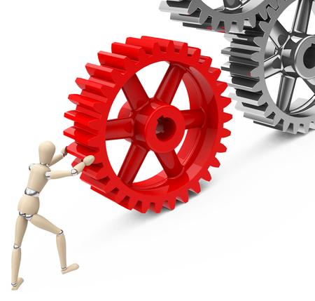 gearwheel: moving the gear wheel