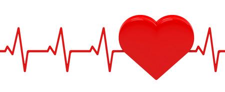 electrocardiograma: el latido del corazón Foto de archivo