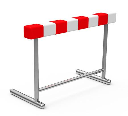 the hurdle Stockfoto