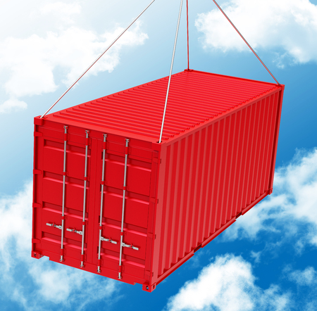The red container Stock Photo