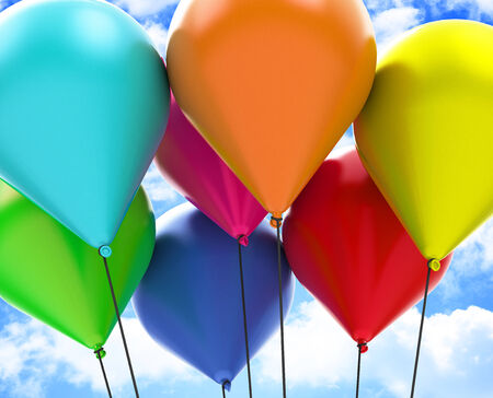 The colorful balloons photo