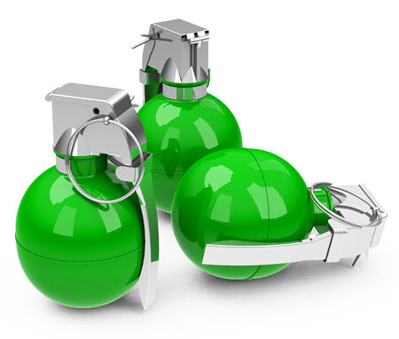 handgrenade: the green granades Stock Photo